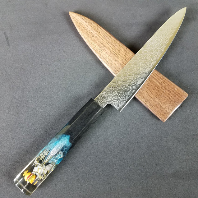 Catch of the Year - 6in (150mm) Damascus Petty Culinary Knife