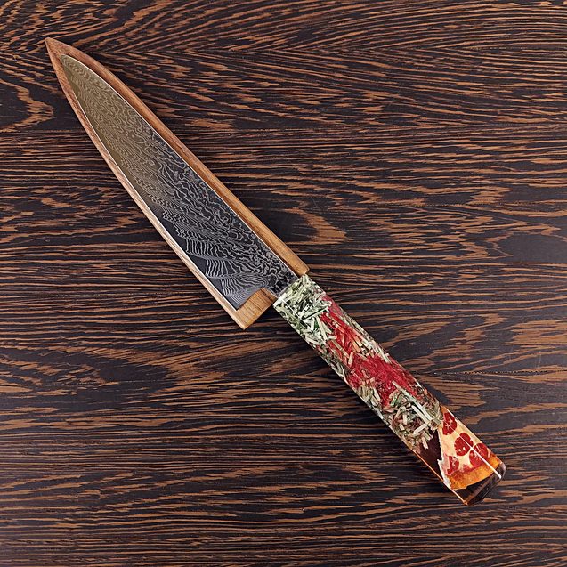 Sin City Hangover - 6in (150mm) Damascus Petty Culinary Knife
