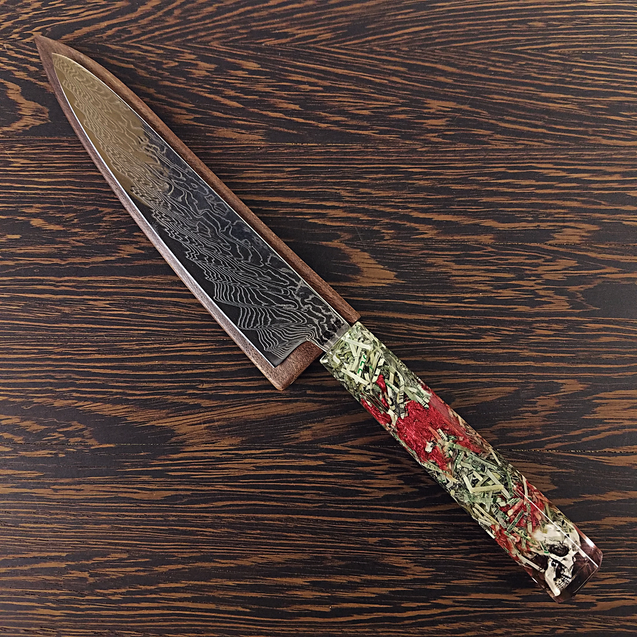 Root of All Evil - 6in (150mm) Damascus Petty Culinary Knife