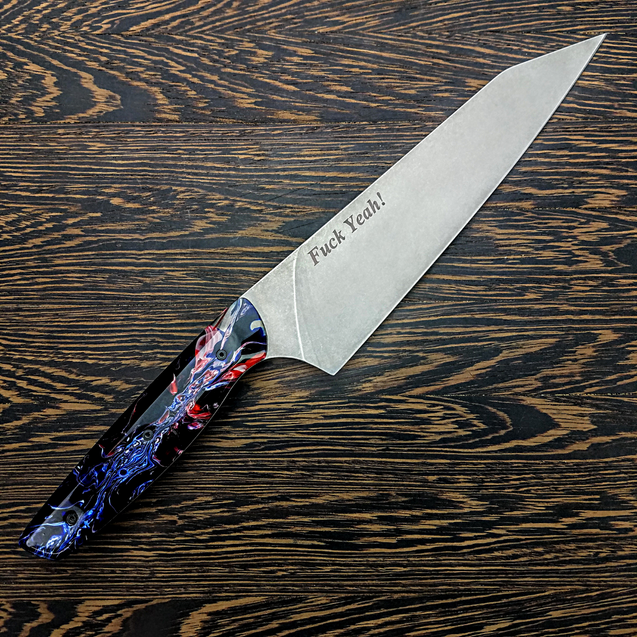 Fuck Yeah! - 8in (203mm) Gyuto Chef Knife S35VN Stainless Steel