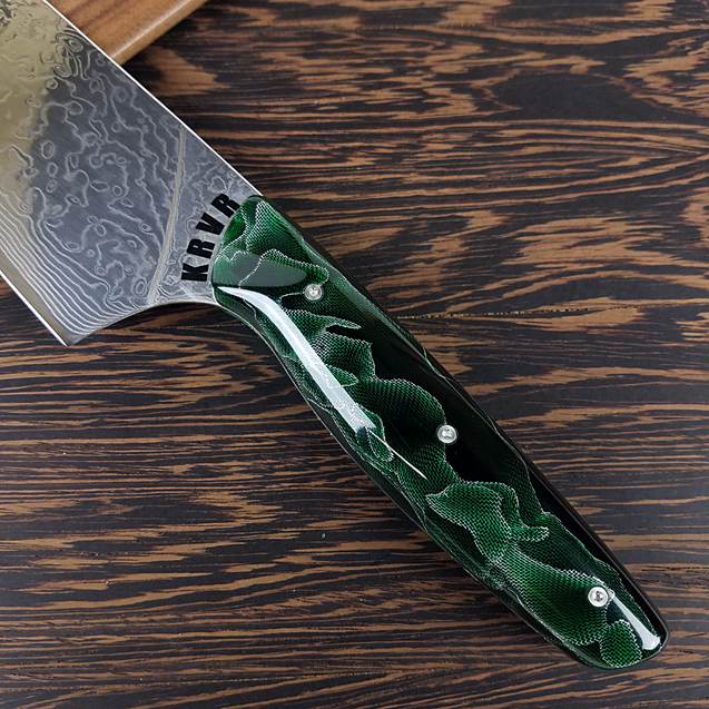 Gravity's Matrix - 10in (254mm) Damascus Gyuto - Raindrop - Smooth Handle