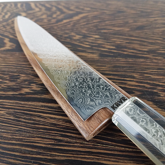 Phantom Phyre - 6in (150mm) Damascus Petty Culinary Knife - Dragonscale Damascus