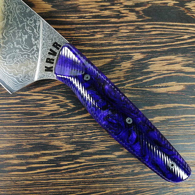 Purple Haze - 10in (254mm) Damascus Gyuto - Raindrop - Smooth Handle