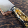 Kurogane Nami - 10in Damascus Gyuto - Dragonscale - Wavy Handle
