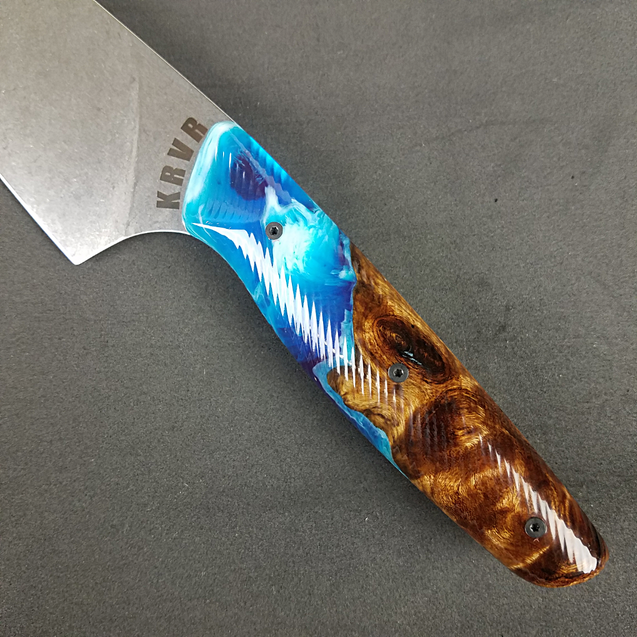 Beach Burl - 8in (203mm) Gyuto Chef Knife S35VN Stainless Steel