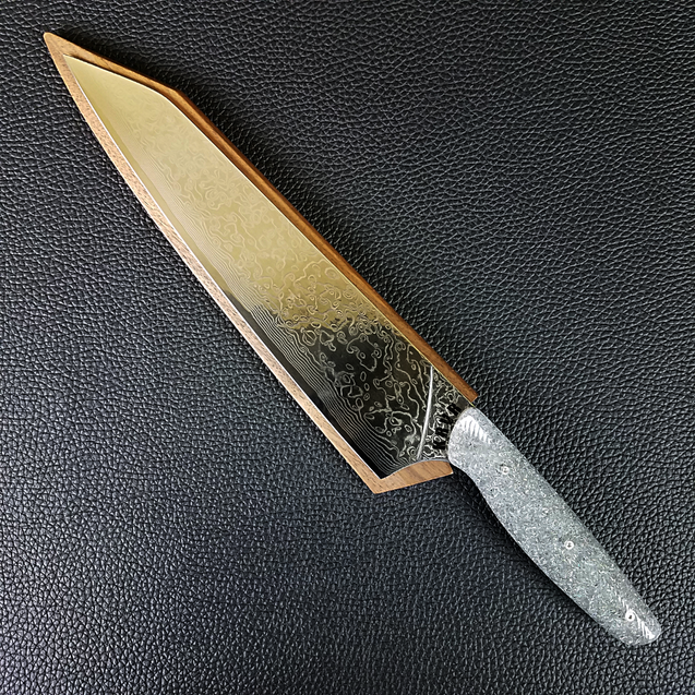 Pretty Fierce - 10in (254mm) Damascus Gyuto - Raindrop - Wavy Handle