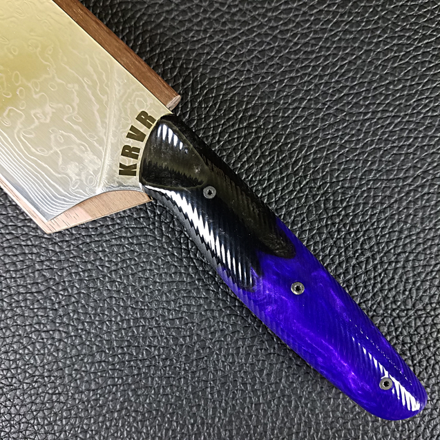 Violet Night - 10in (254mm) Damascus Gyuto - Raindrop - Wavy Handle
