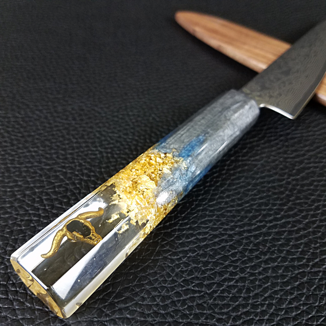 Golden Corral - 6in (150mm) Damascus Petty Culinary Knife
