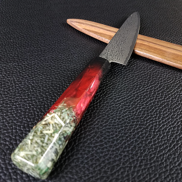 Blood Bank - 6in (150mm) Damascus Petty Culinary Knife