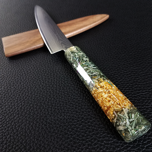 Fort Knox - 6in (150mm) Damascus Petty Culinary Knife
