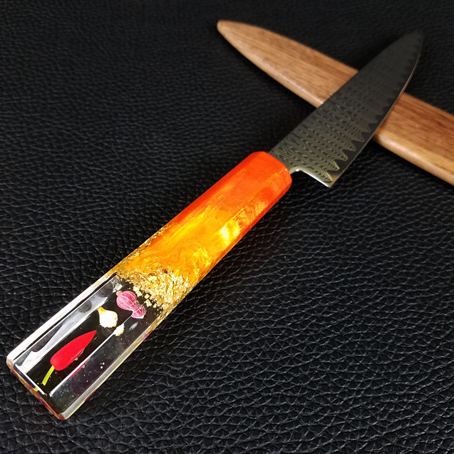 VEGANish - 6in (150mm) Damascus Petty Culinary Knife