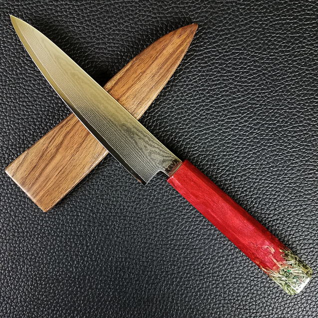 Paid in Blood - 6in (150mm) Damascus Petty Culinary Knife