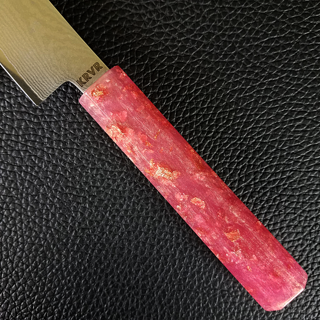 Pink Lemonade - 6in (150mm) Damascus Petty Culinary Knife