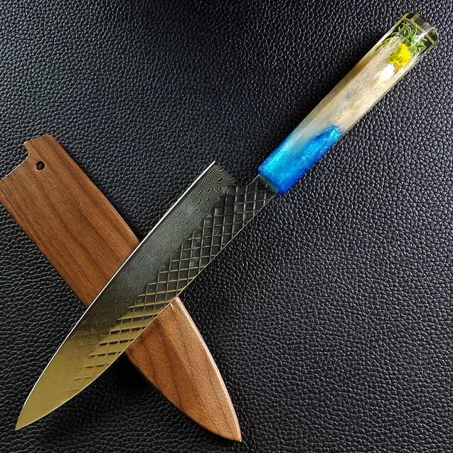Pineapple Express II - 210mm (8.25in) Damascus Gyuto Chef Knife