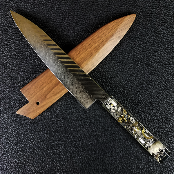 Chronos - 210mm (8.25in) Damascus Gyuto Chef Knife