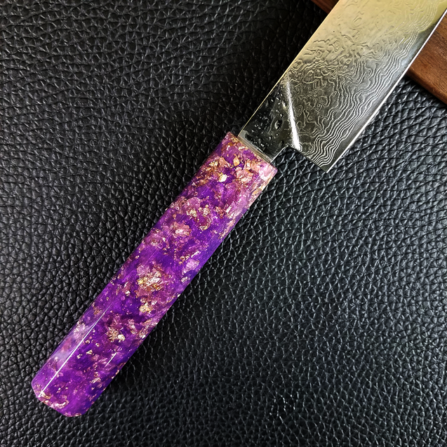 Purple Reign II - 6in (150mm) Damascus Petty Culinary Knife