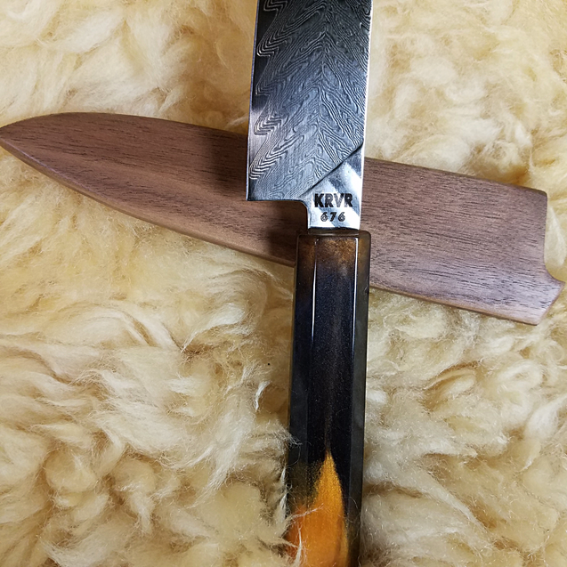 Tiger's Eye - 6in (150mm) Damascus Petty Culinary Knife