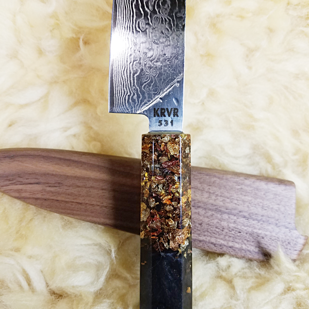 German Chocolate Cake - 6in (150mm) Damascus Petty Culinary Knife