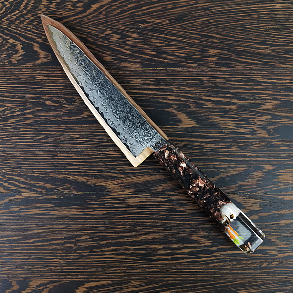 What's Up: Dark - 6in (150mm) Damascus Petty Culinary Knife
