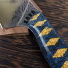 Ronin's Gold - 10in (254mm) Damascus Gyuto - Raindrop - Smooth Handle
