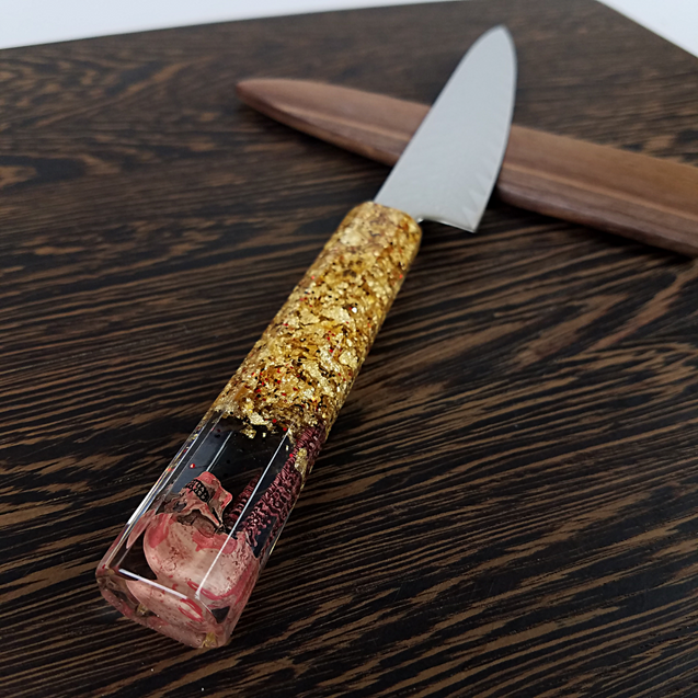 Road to Hell Dorado - 6in (150mm) Damascus Petty Culinary Knife