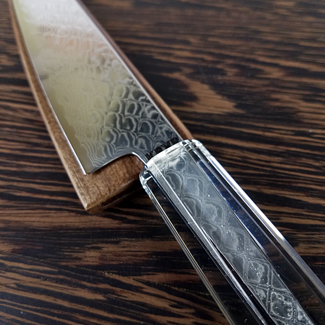 Clear and Present Danger - 6in (150mm) Damascus Petty Culinary Knife