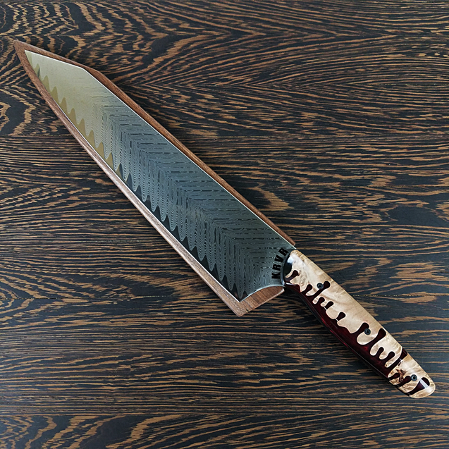 Poltergeist - 10in (254mm) Damascus Gyuto - Sawtooth - Smooth Handle