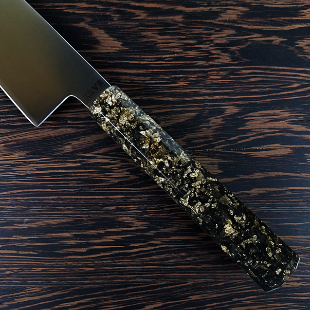 Black and Gold - 240mm (9.45in) Gyuto Chef Knife Stainless Steel