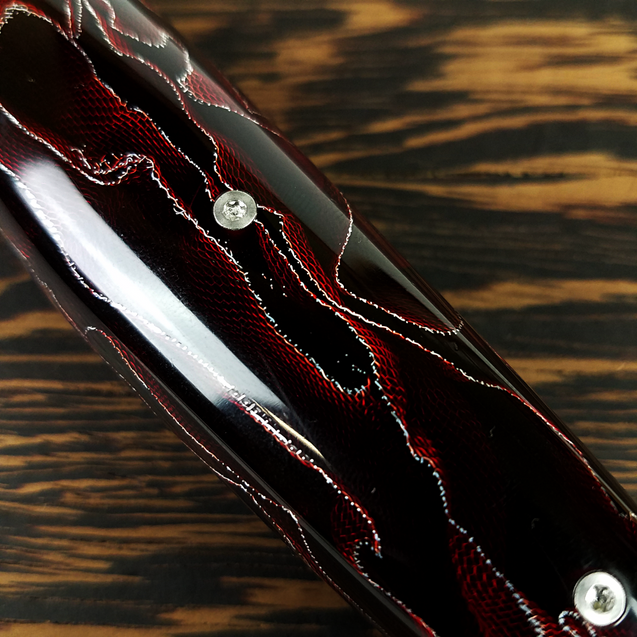 Red Dawn Gravitron - 10in (254mm) Damascus Gyuto - Raindrop - Smooth Handle