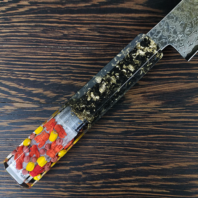Crawfish Boil - 6in (150mm) Damascus Petty Culinary Knife