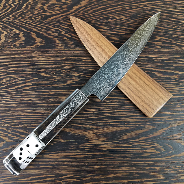 Slicin' Dice - 6in (150mm) Damascus Petty Culinary Knife