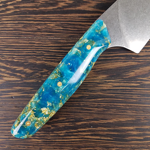 Mermaid's Hoard - 8in (203mm) Gyuto Chef Knife S35VN Stainless Steel