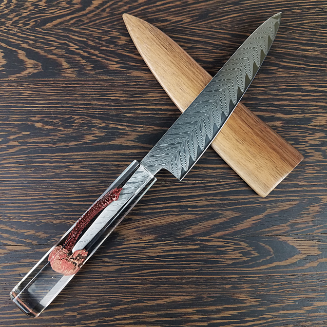Spinal Catastrophe - 6in (150mm) Damascus Petty Culinary Knife