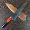 Dracarys - 10in (254mm) Damascus Gyuto - Dragonscale - Smooth Handle