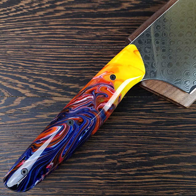Firestorm - 10in (254mm) Damascus Gyuto - Dragonscale - Smooth Handle