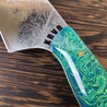Wakame - 10in (254mm) Damascus Gyuto - Raindrop - Smooth Handle