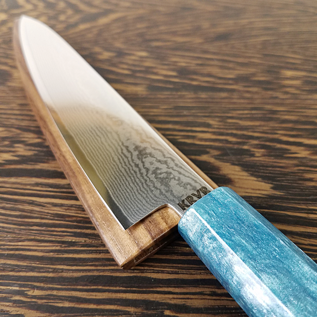 Poseidon's Crest - 6in (150mm) Damascus Petty Culinary Knife