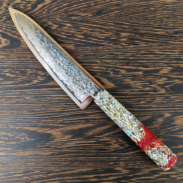 Blood Euro - 6in (150mm) Damascus Petty Culinary Knife