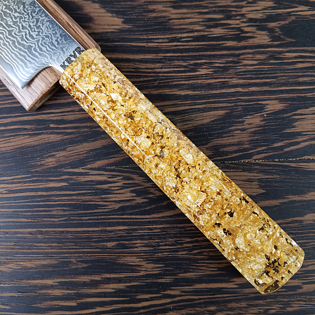 Golden Drop - 6in (150mm) Damascus Petty Culinary Knife