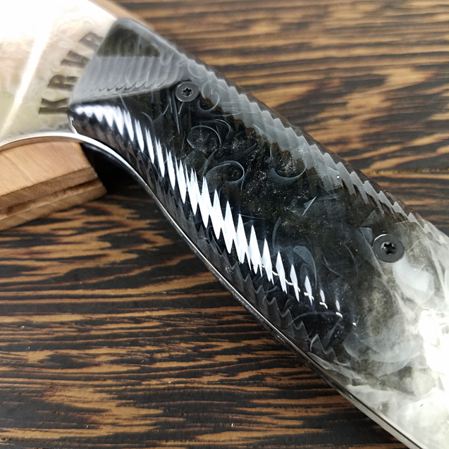 Dark Crystal - 10in (254mm) Damascus Gyuto - Raindrop - Wavy Handle