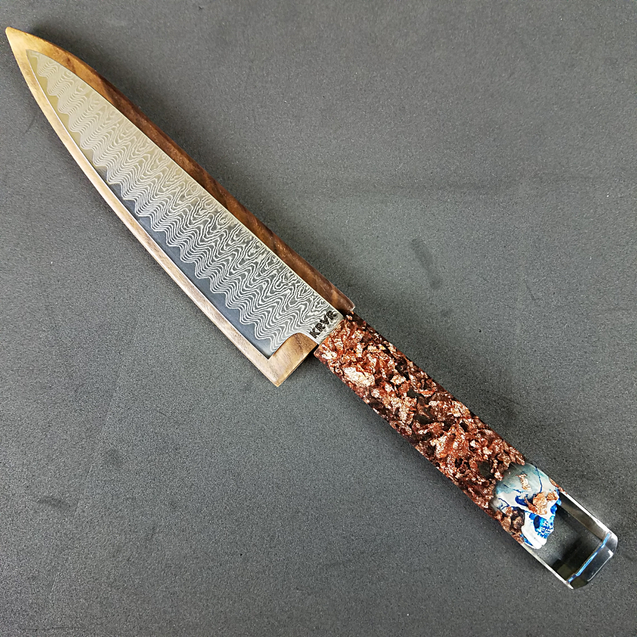 Dread the Reaper - 6in (150mm) Damascus Petty Culinary Knife
