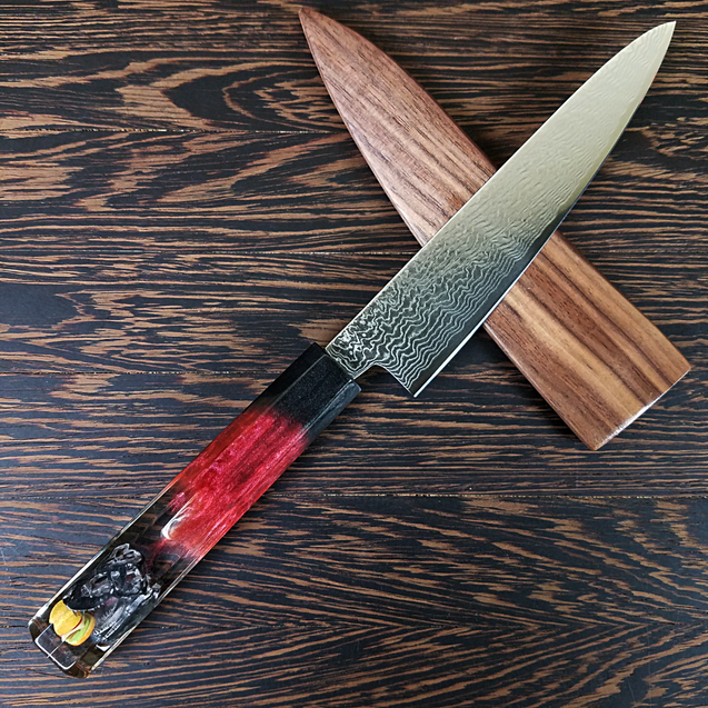 McFossil Fuel - 6in (150mm) Damascus Petty Culinary Knife