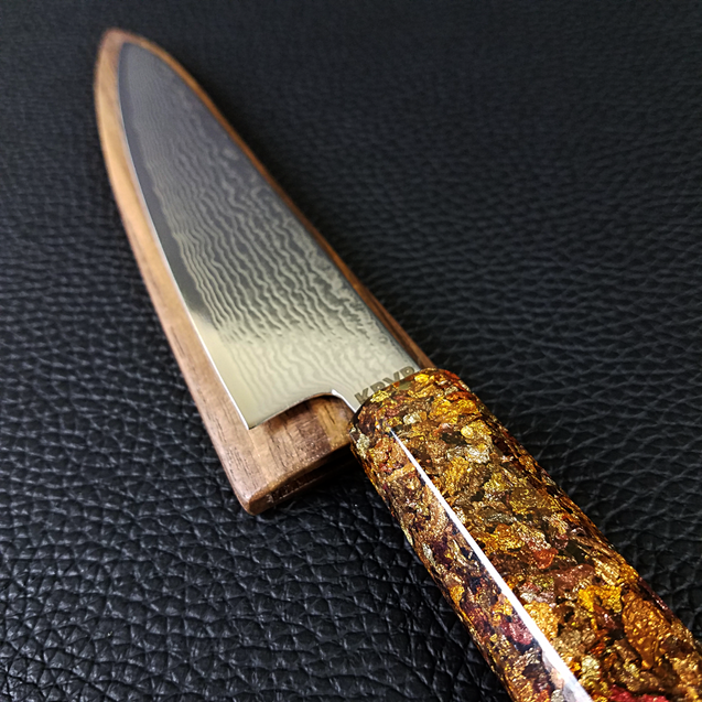 Maple Beams - 6in (150mm) Damascus Petty Culinary Knife