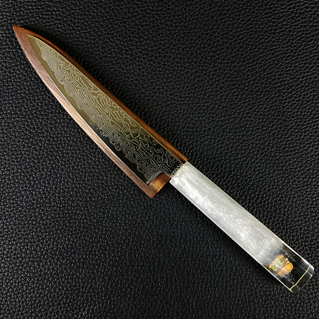 Snow Burger - 6in (150mm) Damascus Petty Culinary Knife