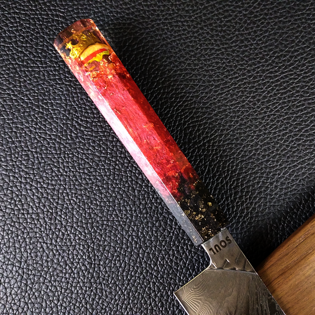 The Burger King - 210mm (8.25in) Damascus Gyuto Chef Knife