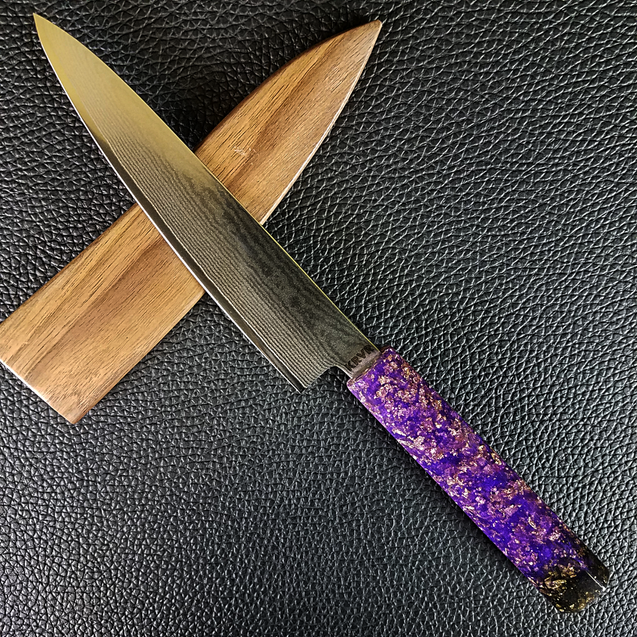 Fade 2 Black - 6in (150mm) Damascus Petty Culinary Knife