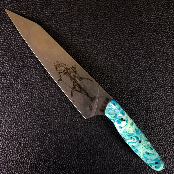 Ocean Master I: Pelagic - 8in (203mm) Gyuto Chef Knife S35VN Stainless Steel
