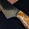 Goldfinger - 10in (254mm) Damascus Gyuto - Raindrop - Wavy Handle