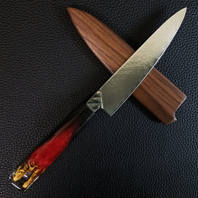 Raptor Gold - 6in (150mm) Damascus Petty Culinary Knife