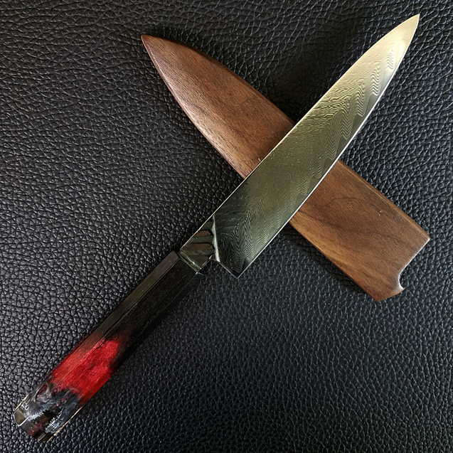 Raptor Black - 6in (150mm) Damascus Petty Culinary Knife